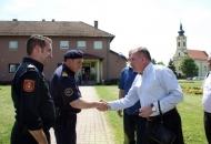 Župan Kolić i dožupan Rukavina posjetili vatrogasce iz Senja i Otočca u Općini Drenovci