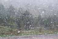 Pada gusti snijeg na Vratniku
