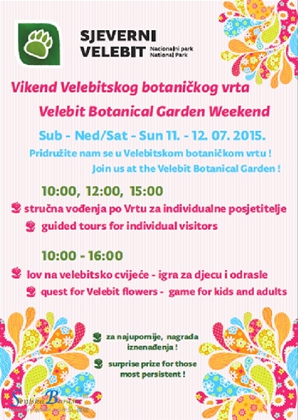 Vikend Velebitskoga botaničkog vrta - 11. i 12. srpnja