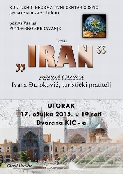 """Putopisno predavanje """"Iran"""" u KIC-u Gospić"""