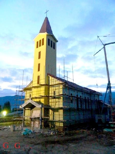 Gradnja lapačke crkve pri samom kraju
