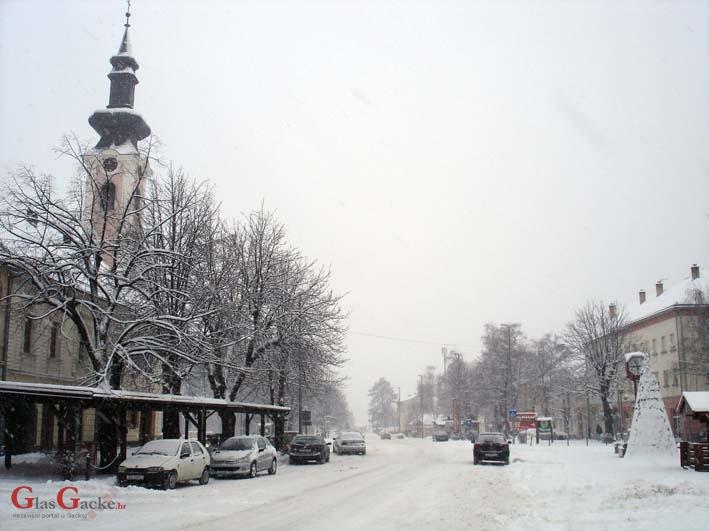 U Gackoj palo nešto snijega