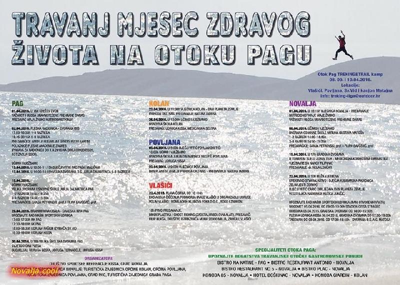Travanj mjesec zdravog života na otoku Pagu