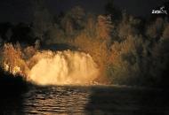 Švički slap sniman noću