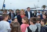 Predsjednica Kolinda Grabar Kitarović posjetila Novalju
