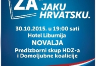 Predizborni skup HDZ-a u Novalji