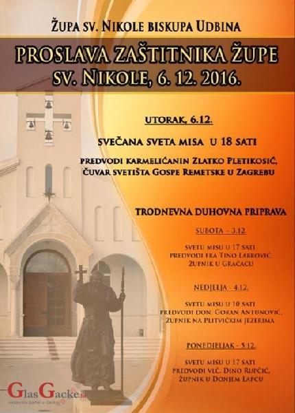 Na Udbini trodnevna priprava za sv. Nikolu