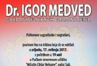 Predizborni skup dr.Igora Medveda u srijedu
