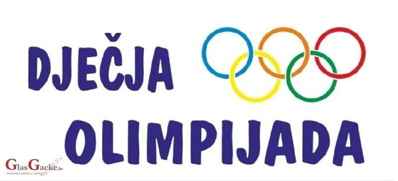 Dječja Olimpijada - 16. svibnja u Otočcu
