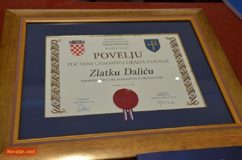 Zlatko Dalić i Dejan Lovren počasni građani Grada Novalje