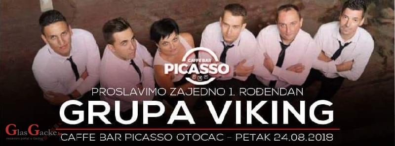 """Proslava godišnjice rada caffe bara """"Picasso"""" uz grupu """"Viking"""""""
