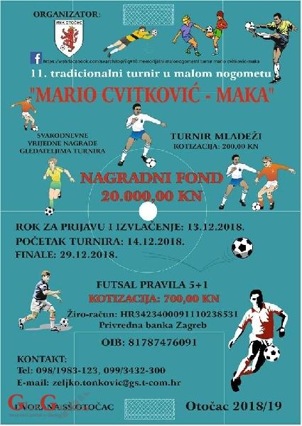 """11.tradicionalni turnir u malom nogometu """"Mario Cvitković-Maka"""""""