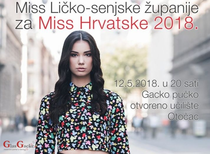 Izbor za Miss Ličko-senjske županije u Otočcu 12.svibnja