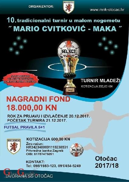 Traju prijave za turnir Mario Cvitković Maka