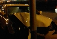 Automobilom u stup pras