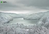 Prva ovojesenja zimska idila na Plitvicama