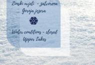 Zatvorena Gornja jezera - zima