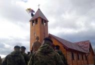 Blagoslovljena vojna kapela na slunjskomu poligonu