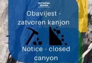 Danas zatvoren kanjon Donjih jezera