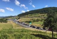 Veliki zastoj u prometu na autocesti kod Otočca