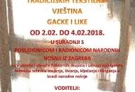Seminar/radionica tradicijskih tekstilnih vještina Gacke i Like