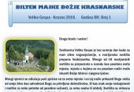 Bilten Majke Bažjke Krasnarske - Velika Gospa Krasno 2018.