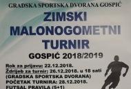 "Nagradni fond zimskog turnira ""Gospić 2018/2019."" respektibilan od 42.000,00 kuna"