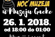 Noć muzeja u Muzeju Gacke