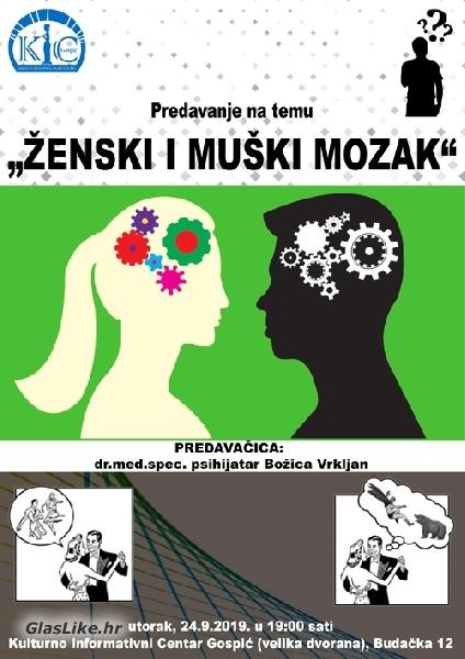 Ženski i muški mozak u Gospiću