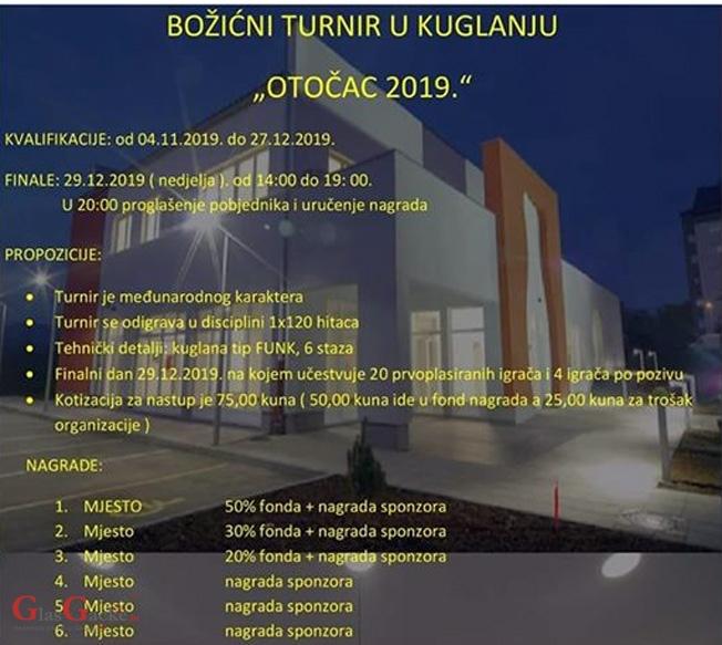 """Božićni turnir u kuglanju """"Otočac 2019"""""""