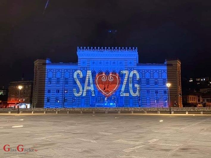Beograđani pjevali za potresom pogođen Zagreb, sarajevska Vijećnica zasjala u plavoj boji
