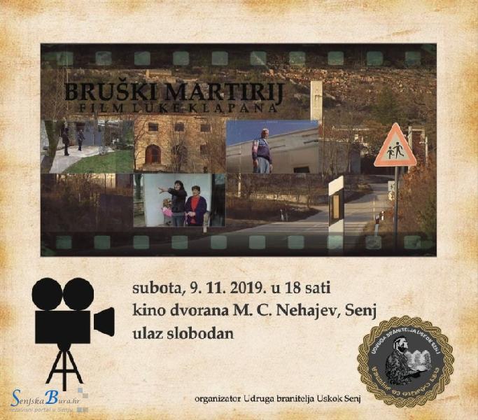"""Projekcija dokumentarnog filma """"Bruški martirij"""" u Senju"""