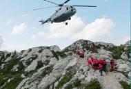 Spašavanje planinarke na Premužićevoj stazi