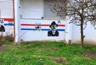 Na muralima  Blage Zadre i Ivana Anđelića-Doktora u Sesvetama ispisani četnički znakovi