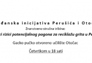 Ekološki rizici reciklaže grita u Perušiću - tribine u Otočcu