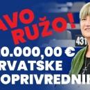 Tomašić izborila 15 milijuna eura za hrvatske poljoprivrednike
