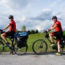 Krznarić i Piršljin biciklom na Lika Touring dionici