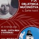 Misa na 75. obljetnicu mučeničke smrti. s. Žarke Ivasić