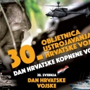 Tjedan Hrvatske vojske - polaganje vijenaca i paljenje svijeća na spomen-obilježjima Domovinskog rata