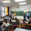 Gradonačelnik Grada Senja Sanjin Rukavina ispratio osnovnoškolce u nove školske pobjede