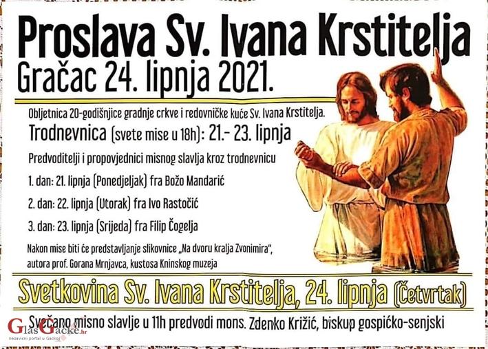 Proslava 20. obljetnice gradnje franjevačke crkve i samostana u Gračacu